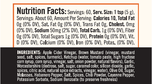 Chaza Ingredients